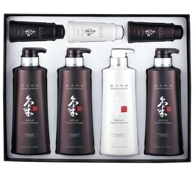 KiGold Premium Hair Care Set - Bộ Quà Tặng Dầu Gội Đầu Và Dầu Xả Hồng Sâm - Made in Korea