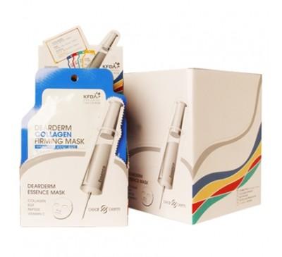 Dearderm Collagen Firming Mask - Mặt Nạ Dưỡng Da Bổ Sung Collagen - Box of 11 pieces - Made in Korea
