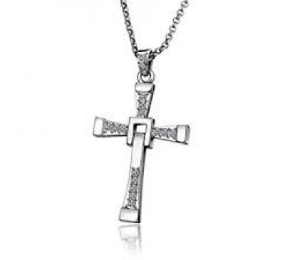 Men Stylish Dominic Toretto Cross Pendant Necklace