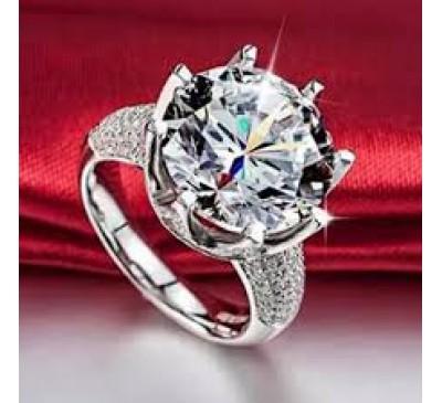 Women Fashion White Sapphire & Topaz Gemstone Ring