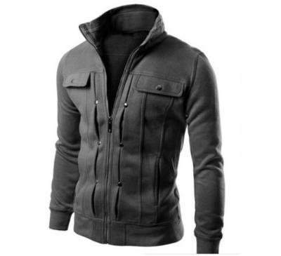 Men Fashion Solid Chaqueta Moto Jacket