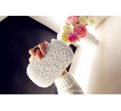 Pearl Rhinestone Handbag - Ví Cầm Tay Ngọc Trai - Made by Hand