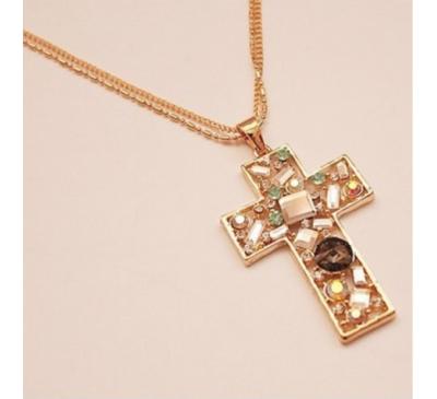 Rose Gold Luxury Cross Jewelry For Women Pendant Neckace