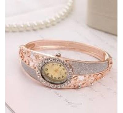 Luxury Gold Filled Hollow Quartz Bangle Watch