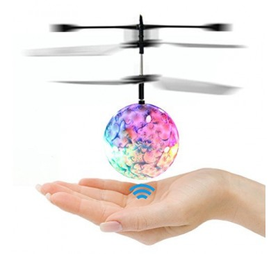 LED Lighting Ball Helicopter Flying By Sensor Toy