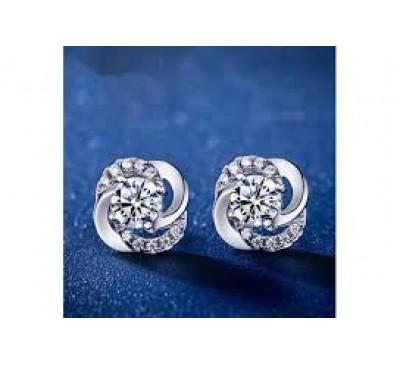 Women Fashion Clover Stud Earrings
