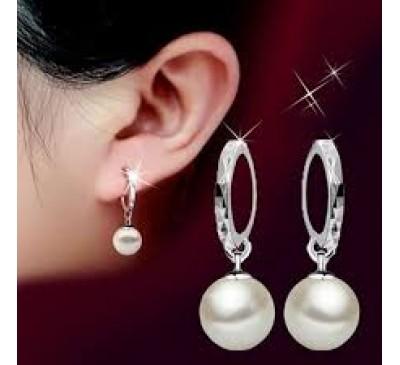 Women Fashion Jewelry 10MM Freshwater Pearl Earrings