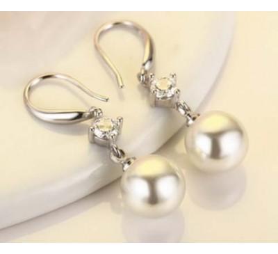 Women Fashion Natural Freshwater Pearl Dorp Earrings