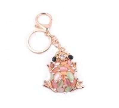 Fashion Crystal Frog Luxury Key Chain