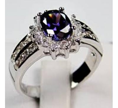 Women Fashion Jewelry Amethyst Wedding Ring