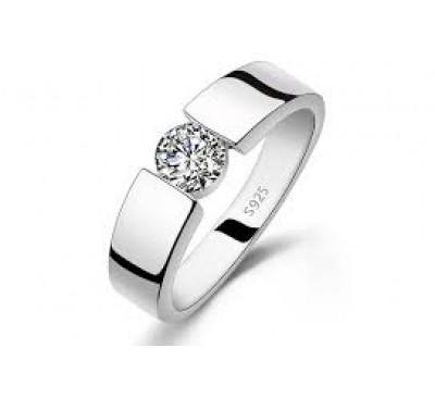 Man's and Woman's Luxury Fashion Diamond Wedding Titanium Steel Ring