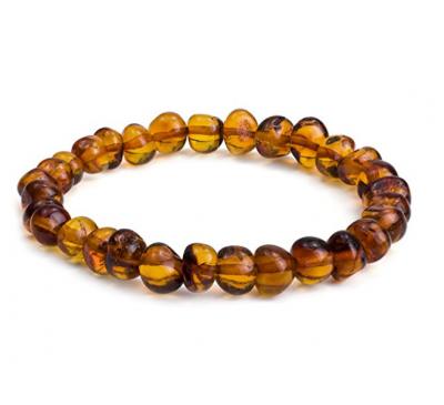 Amber Stretch Beads Bracelet
