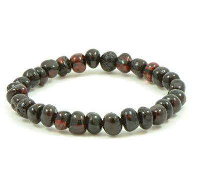 Handmade Cherry Color Baltic Amber Bracelet