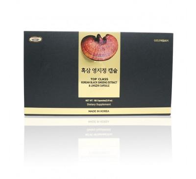 Geumsam Top Class Lingzhi With Black Ginseng Extract Capsules - Cao Cốt Hắc Sâm Nấm Linh Chi Thượng Hạng Dạng Viên - 180 Viên - Made in Korea