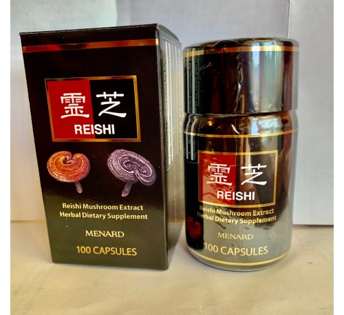 Menard Pure Reishi Mushroom Extract - 100 Capsules - Viên Uống Linh Chi - Made in  Japan