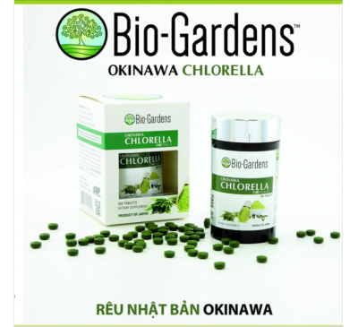 Bio-Gardens - OKINAWA CHLORELLA - Tảo Biển OKINAWA Nhật Bản - 300 Capsules - Made in Japan