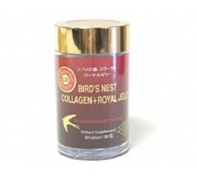 Bird's Nest - Collagen - Royal Jelly - 3 in 1 - Sản Phẩm 3 trong  1 - TỔ YẾN - COLLAGEN - SỮA ONG CHÚA - 90 Viên - Made in Japan