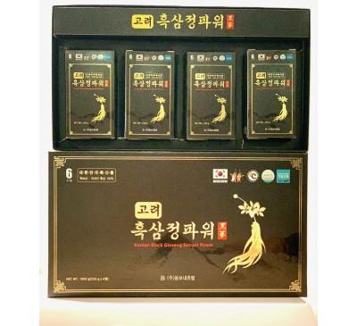 Cao Hắc Sâm Cô Đặc - Black Ginseng Extract Power - 1000g (4 hộp x 250g/hộp) - Made in Korea