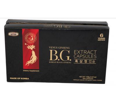 Venus Ginseng Extract Capsules - Viên Nang Tinh Chất Hắc Sâm - 180 Capsules - Made in Korea