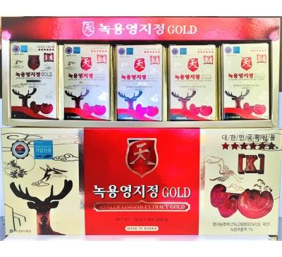 Antler Lingzhi Extract Gold - Cao Cốt Lộc Nhung Hươu Nấm Linh Chi - Made in Korea