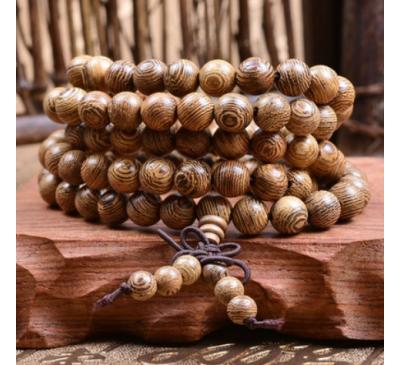 Buddhist 108 Prayer Beads Rosary Wooden Bracelet