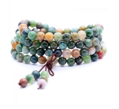Buddhist 108 Payers Agate Stone Beads 6mm Bracelet