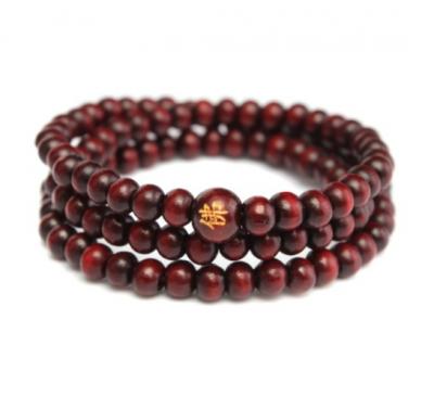 Wood Buddhist 108 Meditation Prayer Beads 6mm Bracelet