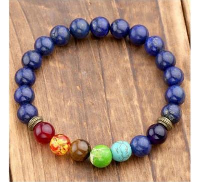 Unisex Seven Healing Balance Beads For Yoga Life Energy Natural Stone Bracelet
