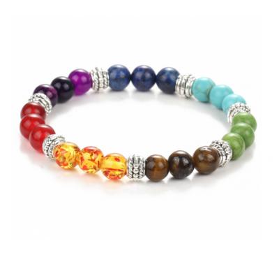 Seven Healing Balance Beads For Yoga Life Energy Natural Stone Bracelet