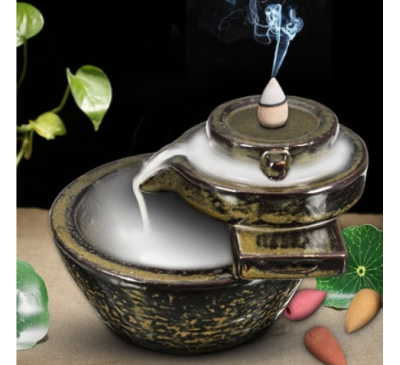 Buddhism Handmade Backflow Relaxation Feng Shui Aromatherapy Censer Holder Ceramic Home Decoration