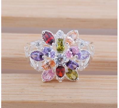 Women Jewelry Round Cut Topaz Gemstone Ring