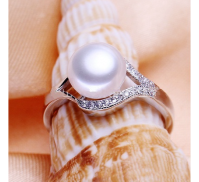 Woman Jewelry 100% Natural Freshwater Pearl Ring