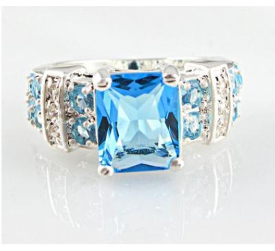 Women Fashion Jewelry Sapphire Stone Ring