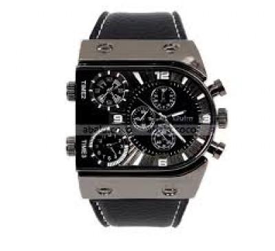 New Style Men's Combat Three Time Zones Analog Quartz Wrist Watches