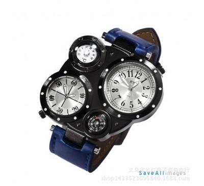 Men Fashion Dual Movement Outdoor Sports Waterproof Watch